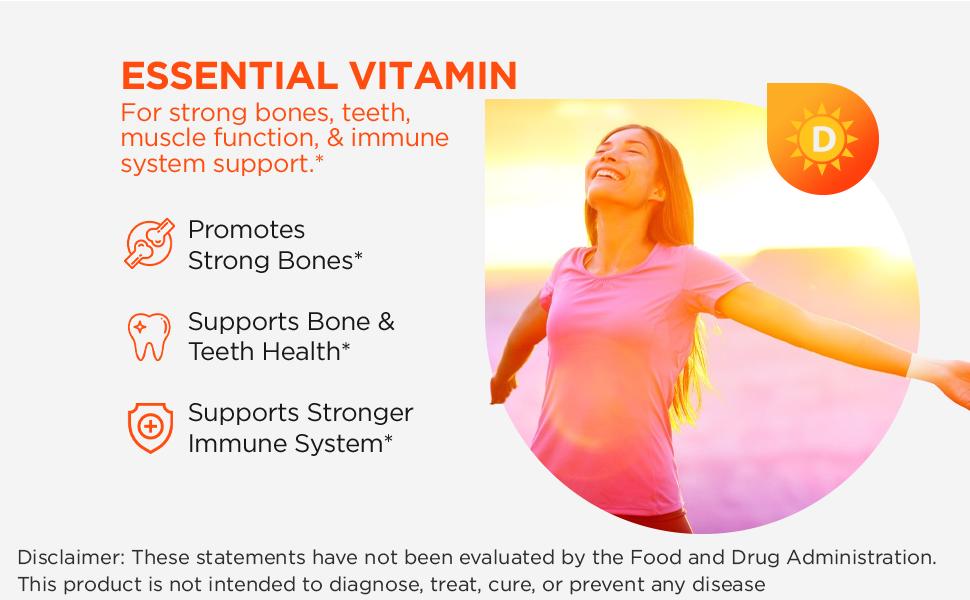 vitamin d3, d3, vitamin d, strong bones, teeth, bone health, immunity