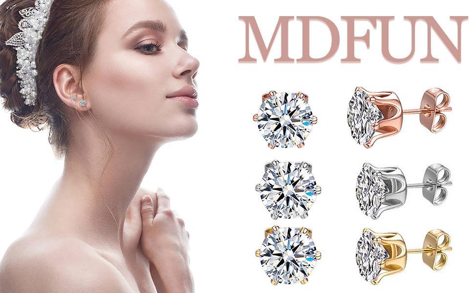 stud earrings,cubic zirconia earrings,earrings for women,cz stud ,earrings pack
