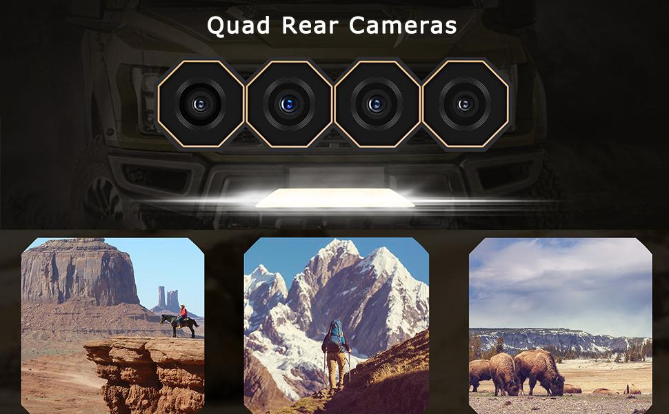 Quad Rear Cameras