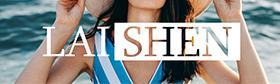 LAISHEN BrandLong Sleeve Raglan Striped Color Block T Shirts
