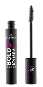24 hour bold volume mascara dramatic intense black makeup cosmetics essence cruelty free vegan peta