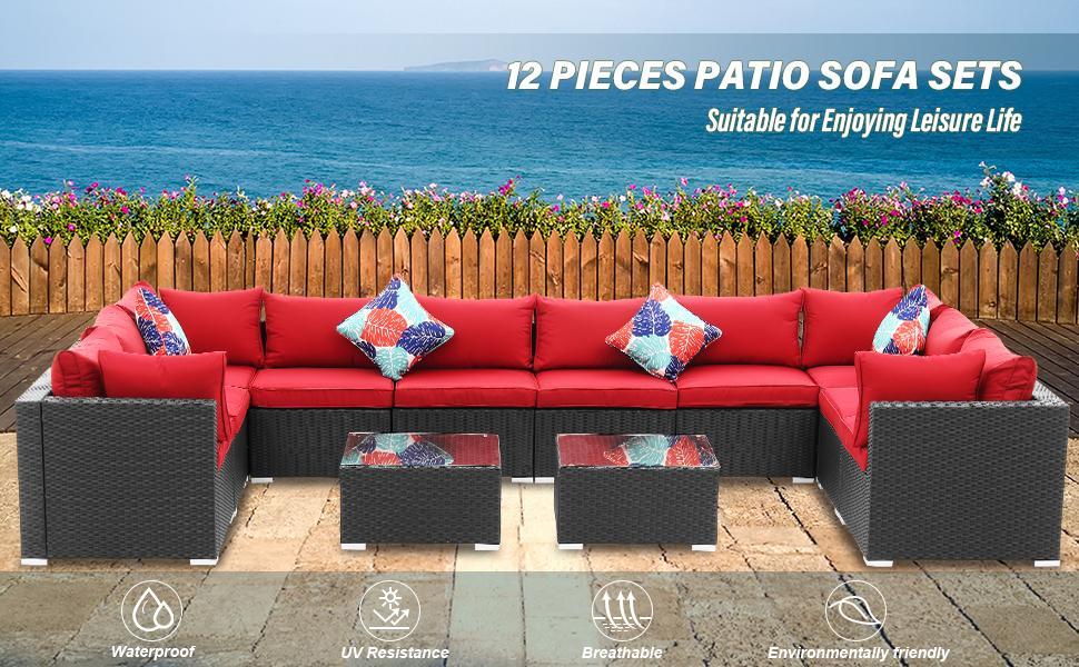 12 Pieces Patio Furniture Set