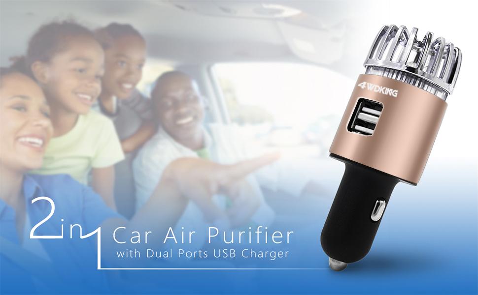 2 in 1 car air purifier