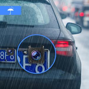waterproof rear cam and 1080P front dash cam