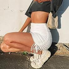 mini skirt SK321 White