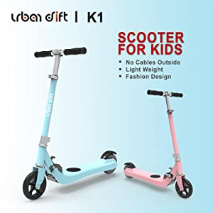 pink and blue electric scooter for toddlers grils boys child no cable fast charging