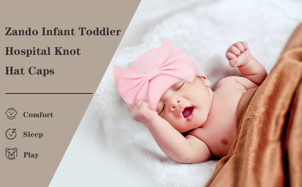 Zando infant toddler hospital knot hats