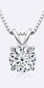 CZ Diamond Pendant Necklace