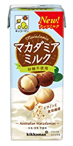 マカダミアミルク 砂糖不使用 アーモンドグリコ
