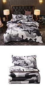 grey camo bedding