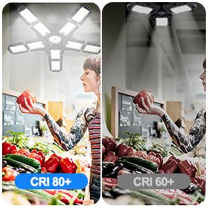 CRI 80+ give you colorful life