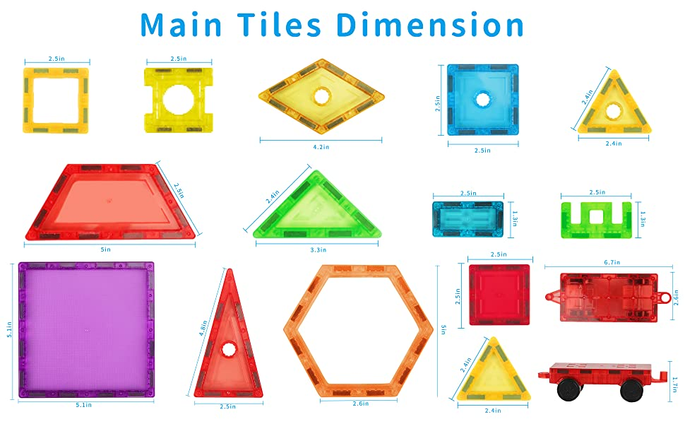 Magnetic Tiles A+2-1