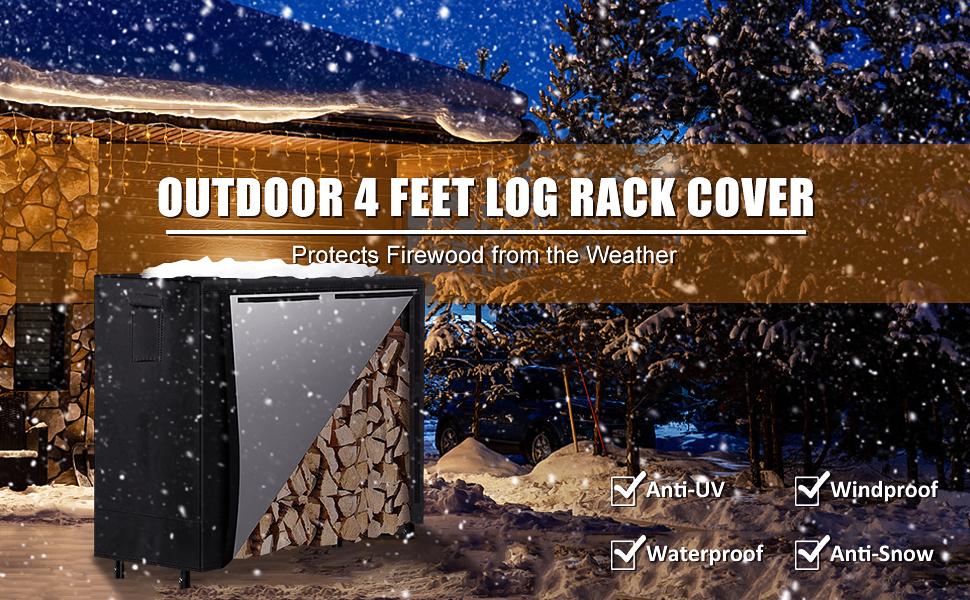 Outdoor 4 Feet Log Rack Cover