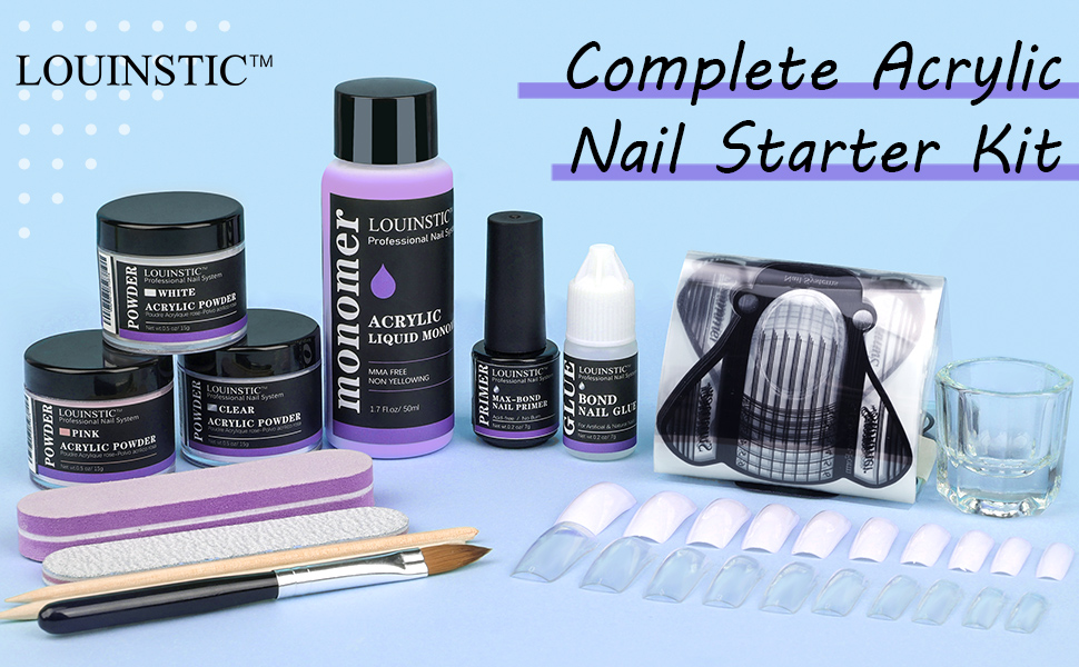 acrylic nail kit for beginners with everything