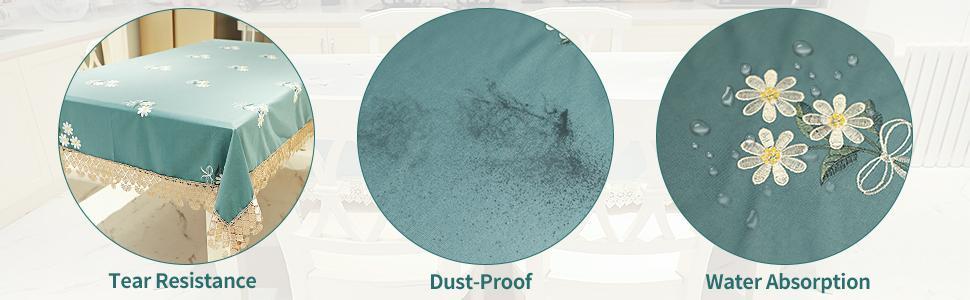 tear resistance dustproof water absorption heat resistant tablecloth table protector desk reuseable
