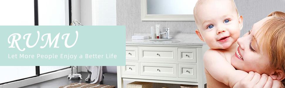chrome bathroom sink faucet