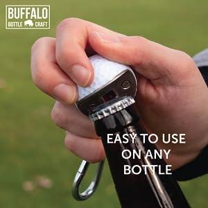 bottle opener golf ball keychain