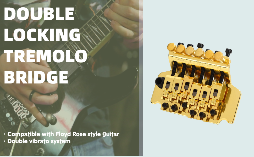 Electric Guitar Double Locking Tremolo Bridge