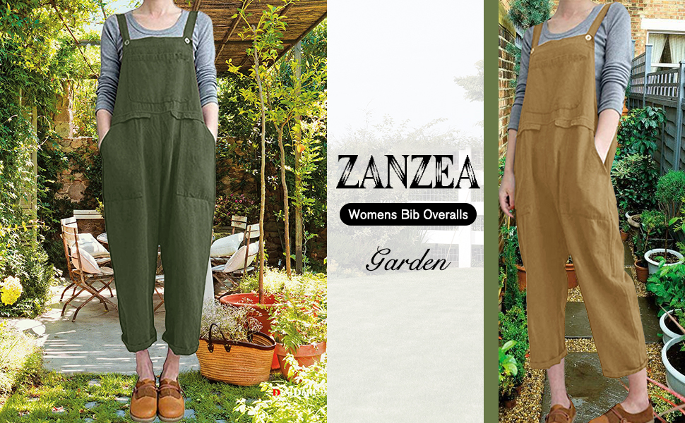 gardening gift casual overalls for women dungarees for women overalls with pockets