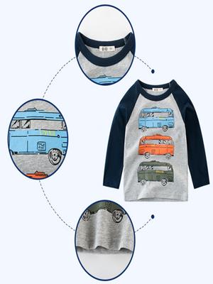 Snyemio Camiseta de Manga Larga Niño Algodón Pulóver 1-7 años