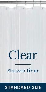 Clear shower liner