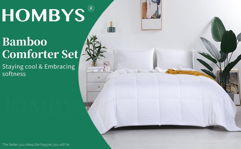 HOMBYS Bamboo Comforter Set