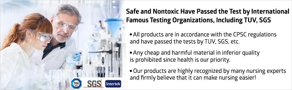 Safe guarantees passed the testing organizations