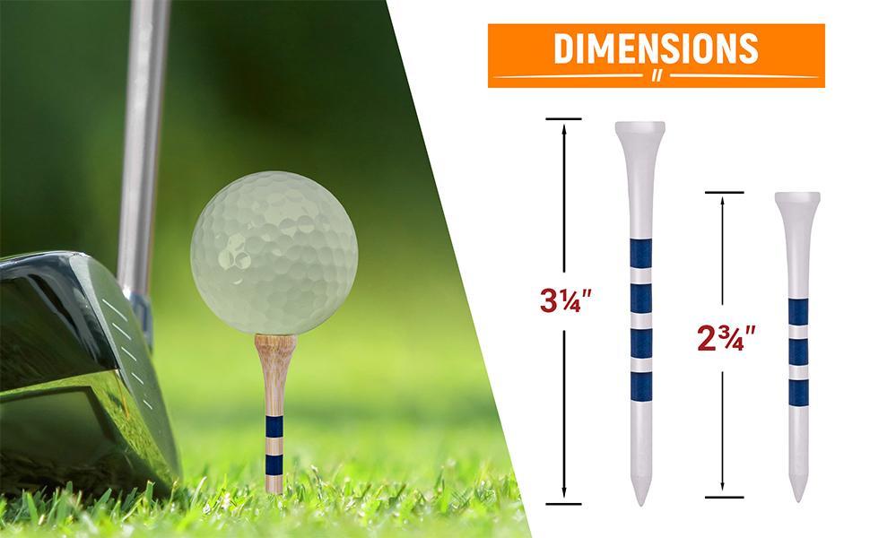 Golf Tees' Sizes