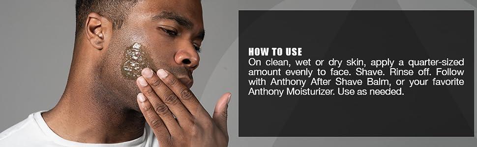 Anthony Shave Gel for Men with Sensitive Skin
