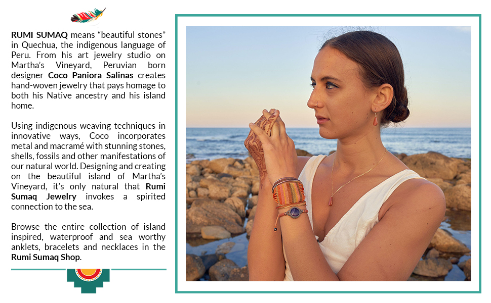 Bohemian Macrame Jewelry with Natural Gemstones