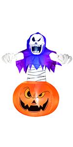 Inflatables Grim Reaper on Pumpkin