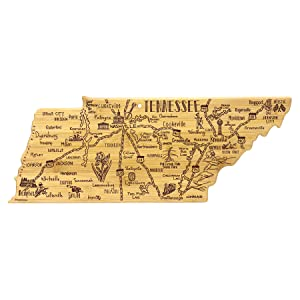 Destination Tennessee State Shaped Serving and Cutting Board