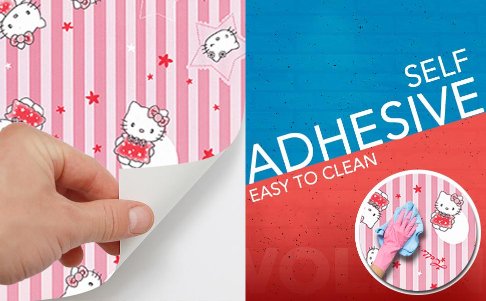 self adhesive, peel and stick, easy to clean wallpaper for wall