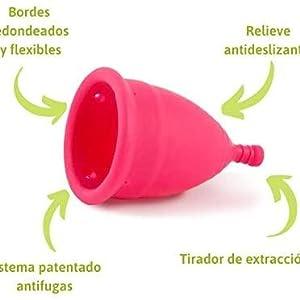 GU Planet - Copa Menstrual Ecológica - Talla S - Sistema Antigoteo Patentado - Sin Siliconas - Copa Íntima 100% Hipoalergénica - Elaborada con TPE de ...