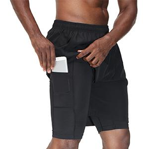 sports shorts with phone pocket