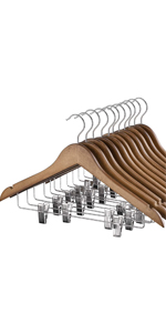 Wooden Hangers with Clips