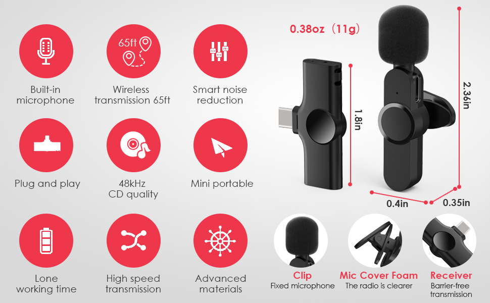 wireless lacalier microphone 2