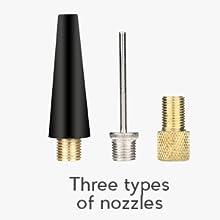 THREE TYPES OF NOZZLES