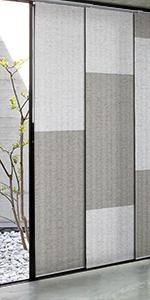GoDear Design Grey Color Blocking Panel Track Blind Window Shade, London Suit