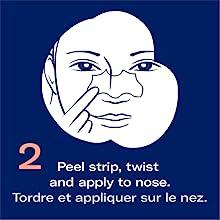 Biore pore facial and nose strip easy use application step 2