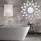 Sun Flower 3D Mirror Wall Stickers