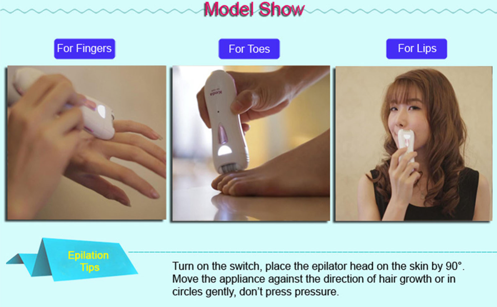 Keda Epilator for Women Hair Removal