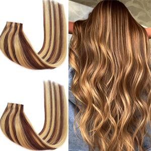 Invisible Tape Weft Clip in Hair