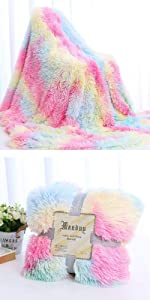 pink tie dye throw blanket colorful rainbow blanket for bed sofa couch