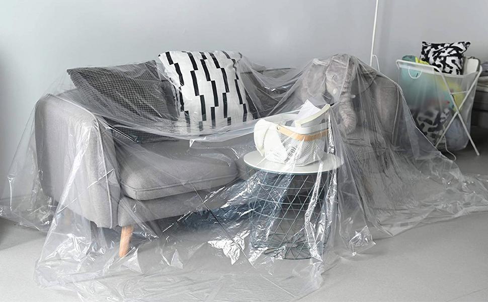 lastic Drop Cloths Drop Cloths for Painting Plastic Painting Tarp Plastic Sheeting Painters