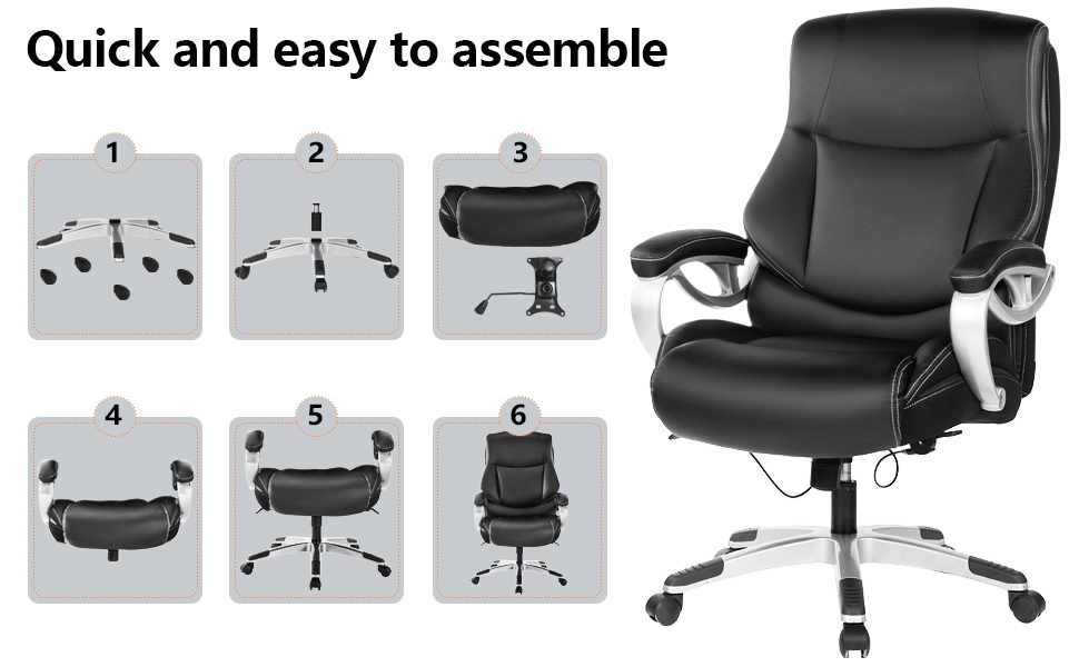 cushioned desk chair