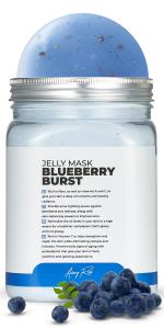 Blueberry Burst Jelly Jar Avery Rose Peel-Off Jelly Mask Rubber Mask Spa Set for face amp; Vajacial