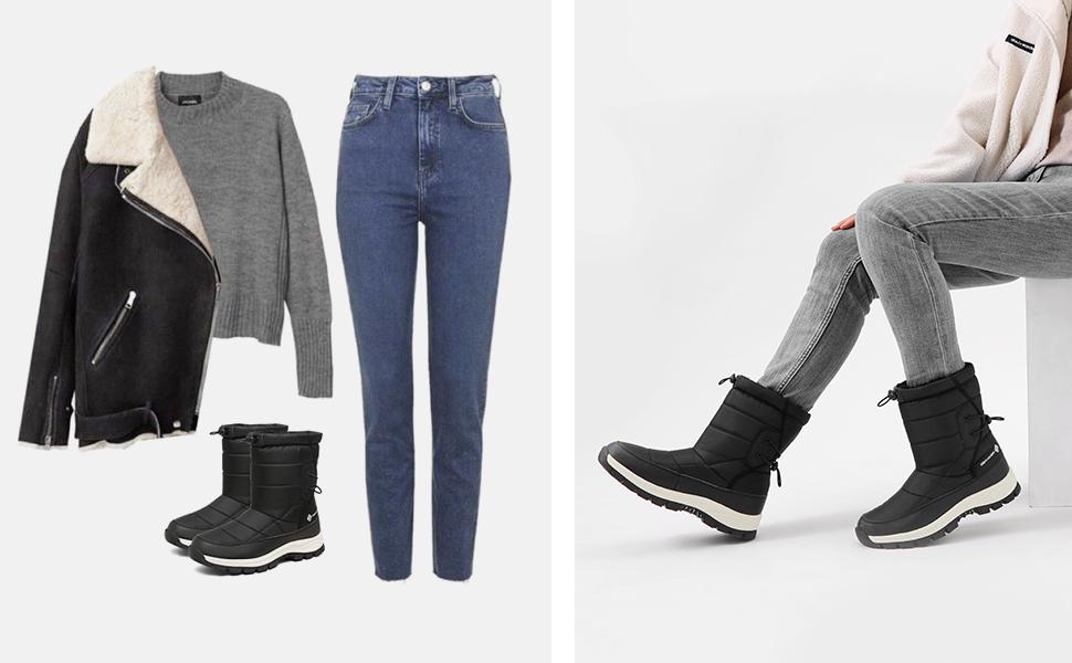 Women's Winter Snow Boots Waterproof Lightweight Warm Fashion Boot