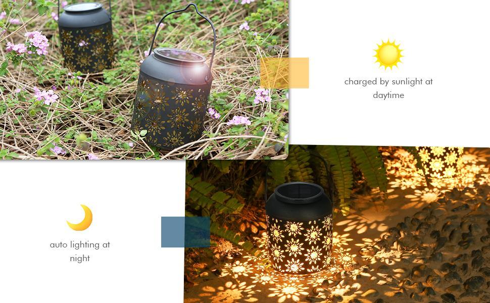 Tomshine solar lantern for hanging