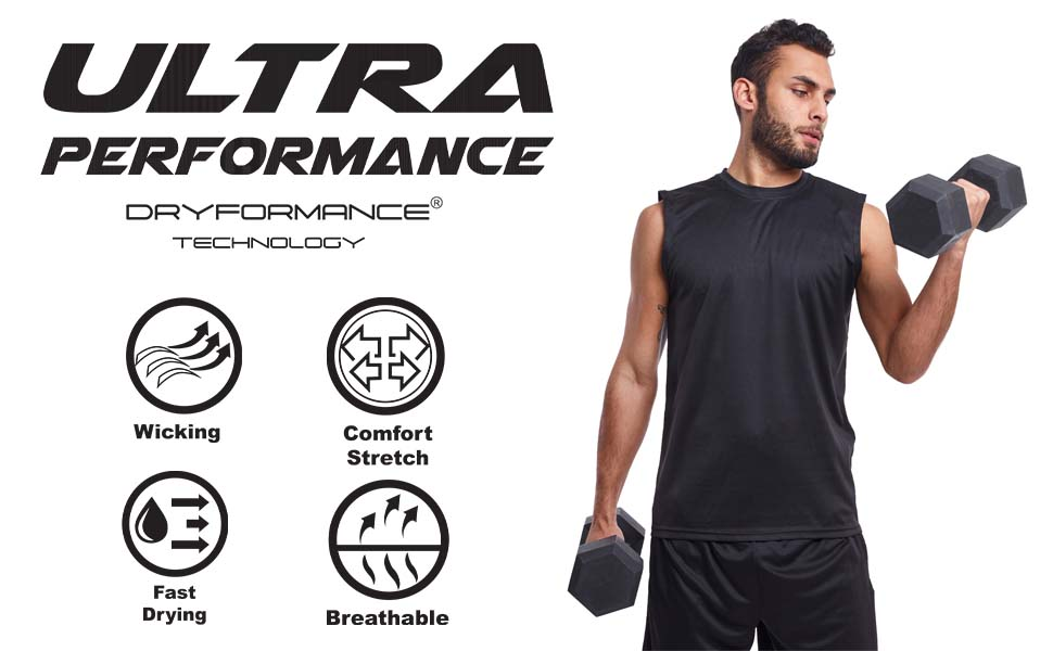 Ultra Performance Muscle Tee 5 Pack Features